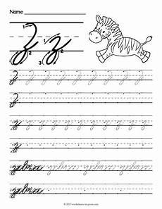 cursive z worksheet