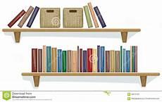 mensola libri mensola con i libri illustrazione vettoriale
