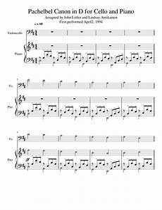pachelbel canon in d for cello and piano sheet music for piano cello download free in pdf or