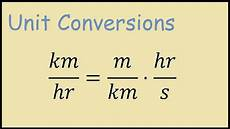 Km To H by Km Hr To M S Formula
