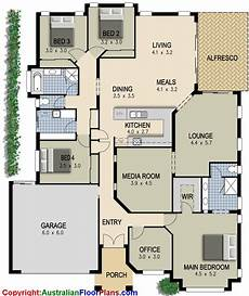 modern four bedroom house plans australian house plan 4 bedroom study lounge media room