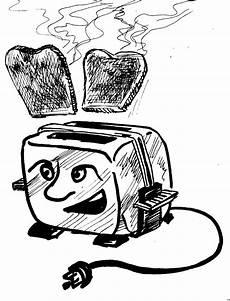 Malvorlagen Comic Toaster Mit Brot Ausmalbild Malvorlage Comics
