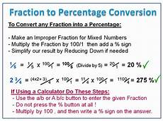 converting fractions to percentages passy s world of