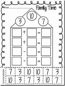 free fact family worksheet fact family activities
