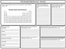 science revision worksheets for year 7 12381 ks3 activate science periodic table topic revision worksheet by marcmarshall teaching