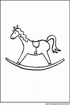 Malvorlage Pferd Weihnachten Schaukelpferd Kostenlose Ausmalbilder Und Window Color