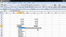 how to sum rounded numbers in excel youtube