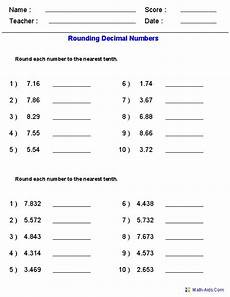 decimals worksheets math 7207 rounding worksheets with decimals this worksheet was built to aligns to common standard 5