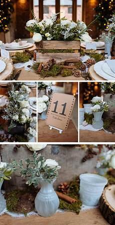 rustic winter woodland wedding decorations