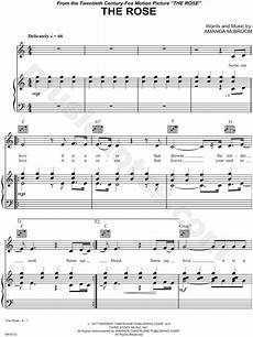 print and download the rose sheet music by bette midler sheet music arranged for piano vocal