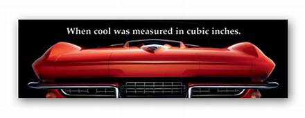Corvette Art Poster  When Cool Was Measured ChevyMall