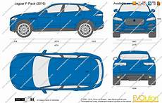 dimensions of jaguar f pace 2018 jaguar f pace vector drawing