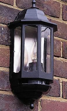 60w bc half lantern black with pir