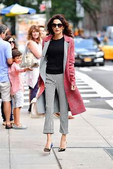 amal clooney style amal clooney was spotted in altuzarra in new york on 17 09