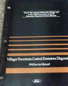 vehicle repair manual 1997 mercury villager engine control 1994 ford mercury villager van powertrain control emission diagnosis manual oem ebay