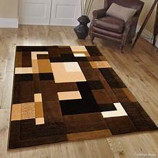 Kitchen Area Rugs Walmart by Allstar Brown Modern Contemporary Casual Brown Area Rug 7
