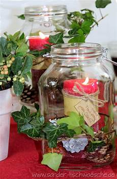 Weckgläser Deko Weihnachten - tischdeko diy herbstliche dekoration mit weckgl 228 sern