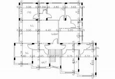 house plan dwg apartment house plan with column layout plan dwg file