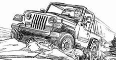 Gratis Malvorlagen Jeep Jeep Wrangler Coloring Page For The Jeep