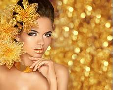 beauty makeup luxury jewelry fashion glamour girl model portrait with flowers isolated on
