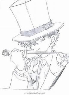 kaito kid 3 gratis malvorlage in comic trickfilmfiguren