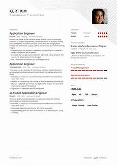 top application engineer resume exles sles for