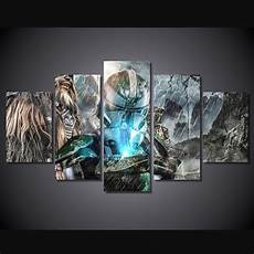 Amazon Com 10sets Of 5pcs 5 Pcs Set Framed Hd Printed Game Characters Picture Wall