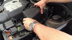 how to change air filter in 30 seconds vw polo mk4