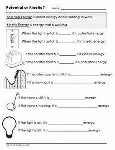 physical science worksheet work and power 13210 potential or kinetic energy worksheet middle school science kinetic energy and