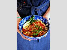 Spicy Tofu and Vegetable ?Dan Dan? Noodles for Chinese New