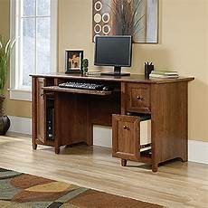 edge water computer desk auburn cherry d 419395 sauder woodworking afw