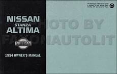 free car manuals to download 1994 nissan maxima security system 1994 nissan stanza altima owner s manual original