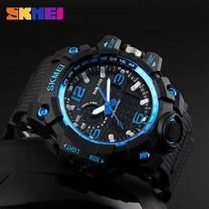 Jam Tangan Skmei Pria Ad1155 skmei jam tangan analog digital pria ad1155 black blue
