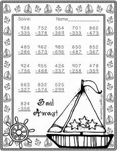 subtraction with regrouping worksheets summer 10707 3 nbt 2 summer themed 3 digit subtraction with regrouping math worksheets math work