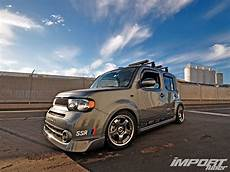 Black Tuning Wheels Racing Nissan Cube Wallpaper