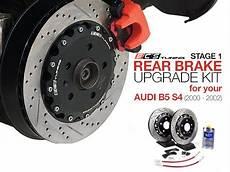 ecs news audi b5 s4 stage 1 rear brake upgrade kit