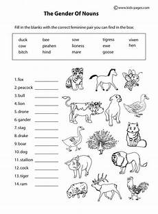 worksheets on animals for grade 3 13991 animals gender b w worksheet