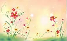 Flower Illustration Wallpaper by Flowers Field Illustration Desktop Wallpaper