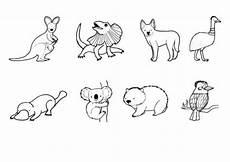 kostenlose malvorlage tiere tiere in australien ausmalen