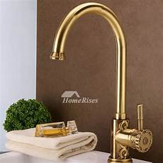luxury kitchen faucet ltj gold kitchen faucet luxury polished brass gooseneck 15 inch