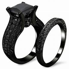 s gothic retro black gold wedding engagement band unique bridal rings sets ebay