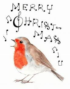 merry christmas robin singing