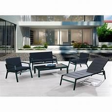 salon jardin aluminium salon de jardin miami en aluminium mypiscine