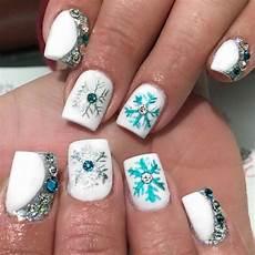 snowflake manicure christmas nails christmas nail art