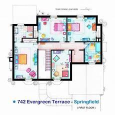 simpsons house floor plan planos de la casa de los simpson planos de casas gratis