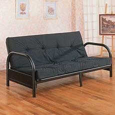 futon frame home source black futon frame with 29 quot arms walmart