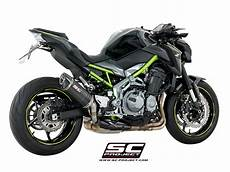 sc project exhaust kawasaki z900 oval silencer 2017