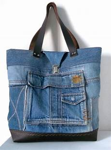 sac cabas en jean recycl 233 collections les poches