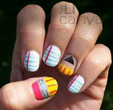 back to school nail art tutorial the little canvas