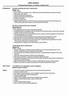 auditor quality assurance resume sles velvet